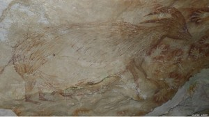 cave-painting-of-dwarfed-bovid-Sulawesi